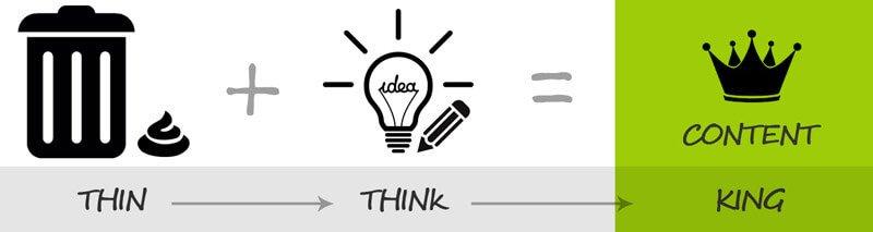 Del Thin content al Think before Content para el King Content
