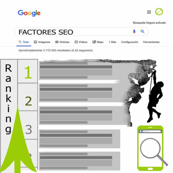 Factores de posicionamiento SEO en Google