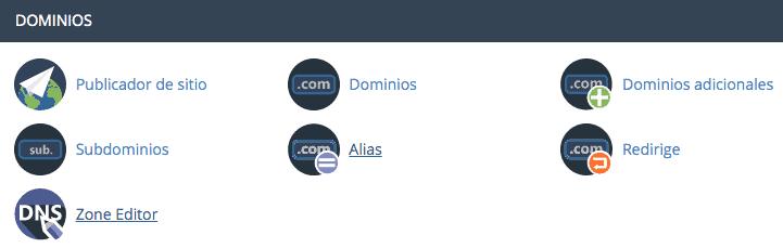 Zone editor CPanel verificación DNS