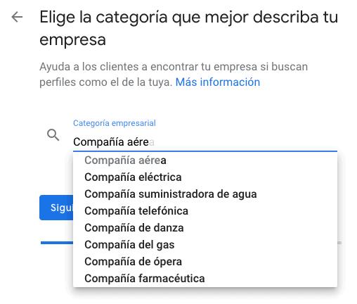 Categoría Google Maps