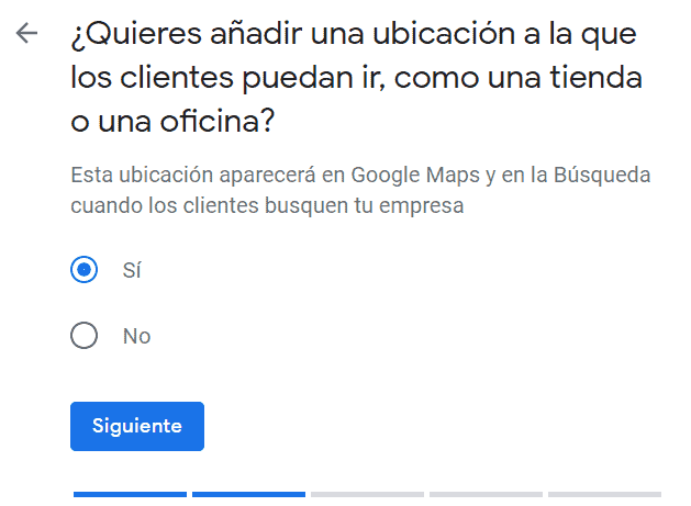 Ubicación empresa en Google My Business