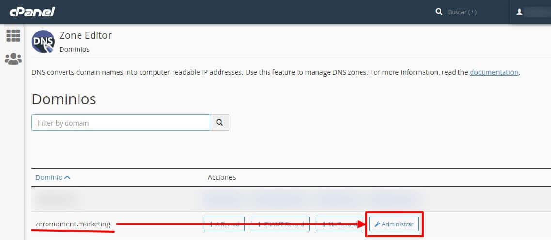 Business Manager de Facebook: administrar DNS