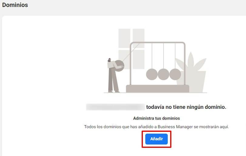 Business Manager de Facebook: verificación de dominio