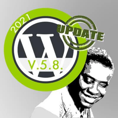 WordPress 5.8 Tatum update