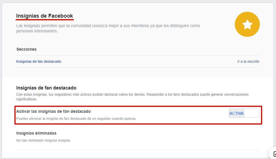 Nuevas insignias de Facebook: donde se configuran